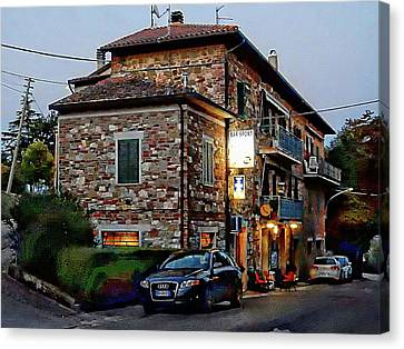 Bar Sport In Villastrada Umbria Canvas Print by Dorothy Berry-Lound