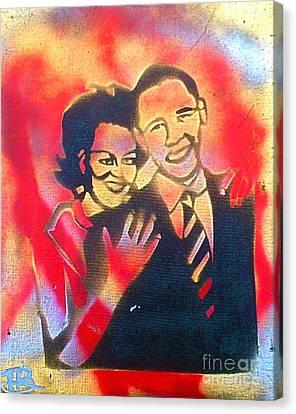 Barack Black Love Canvas Print by Tony B Conscious