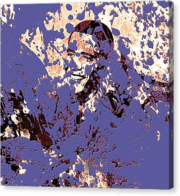 Barack Obama 44a Canvas Print by Brian Reaves