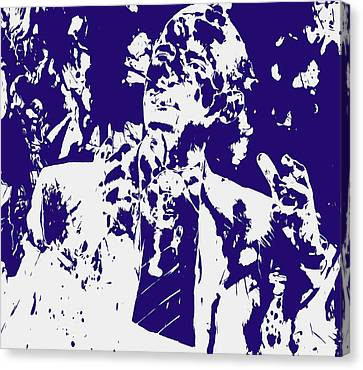 Barack Obama Paint Splatter 4a Canvas Print by Brian Reaves
