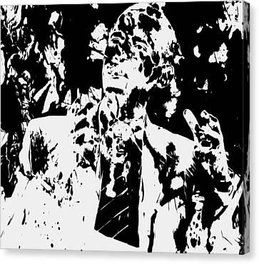 Barack Obama Paint Splatter 4b Canvas Print by Brian Reaves