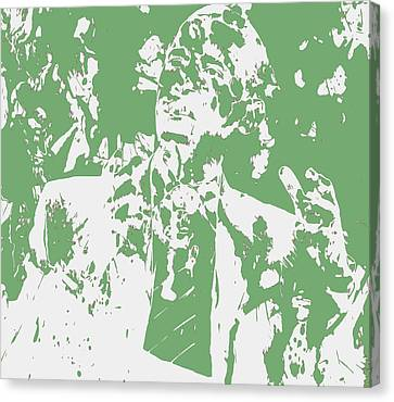 Barack Obama Paint Splatter 4c Canvas Print by Brian Reaves