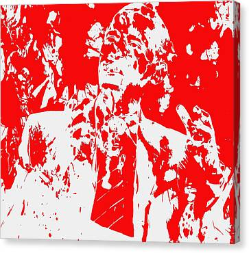 Barack Obama Paint Splatter 4d Canvas Print by Brian Reaves