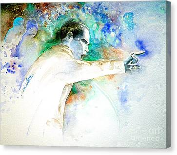 Barack Obama Pointing At You Canvas Print by Miki De Goodaboom