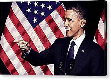 Barack Obama Canvas Print by Iguanna Espinosa