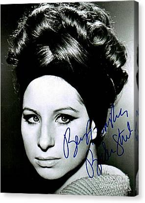 Barbara Streisand  Canvas Print by Pd