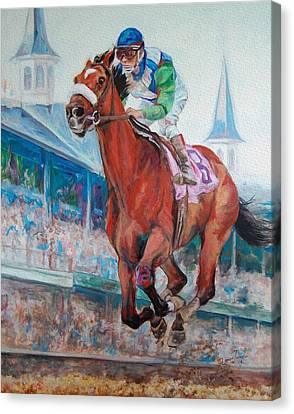 Barbaro - Horse Of The Nation Canvas Print by Leisa Temple