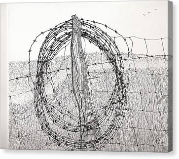 Barbed Coil Canvas Print by Pat Price