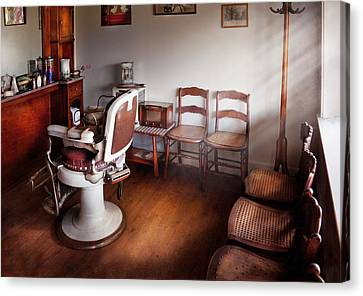 Barber - Ready For An Audience Canvas Print by Mike Savad