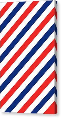 Barber Stripes Canvas Print by Julia Jasiczak