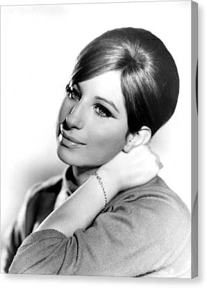 Barbra Streisand, Portrait From Funny Canvas Print by Everett