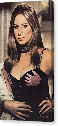 ,barbra Streisand The Owl And The Pussycat 1970  Canvas Print by David Lee Guss