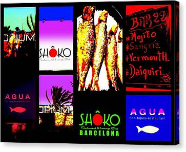 Barcelona Funky Food Joints  Canvas Print by Funkpix Photo Hunter