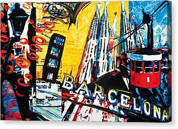 Barcelona Canvas Print by Gerald Herrmann