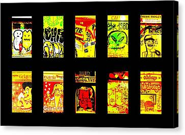 Barcelona Store Fronts Canvas Print by Funkpix Photo Hunter