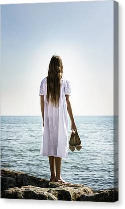 Barefoot At The Sea Canvas Print by Joana Kruse