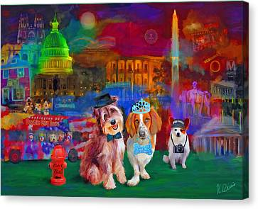 Bark Ball Canvas Print by Karen Derrico