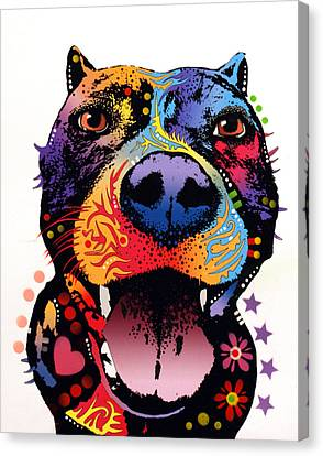 Bark Don't Bite Canvas Print by Dean Russo