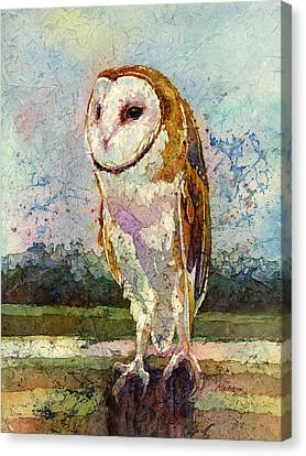 Barn Owl Canvas Print by Hailey E Herrera