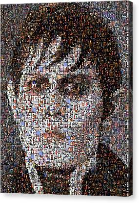 Barnabas Collins Johnny Depp Mosaic Canvas Print by Paul Van Scott