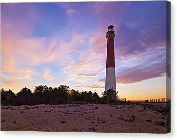 Barnegat Bay Light Sunset Canvas Print by Susan Candelario