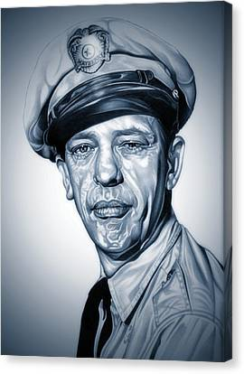 Barney Fife Canvas Print by Fred Larucci