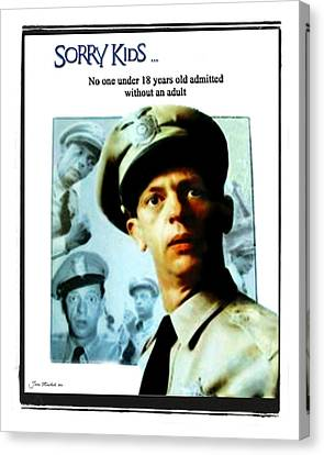 Barney Poster Canvas Print by Joan  Minchak