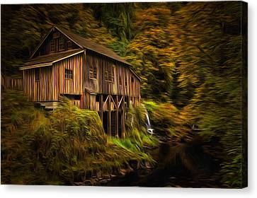 Baroque Cedar Grist Mill Canvas Print by Mark Kiver