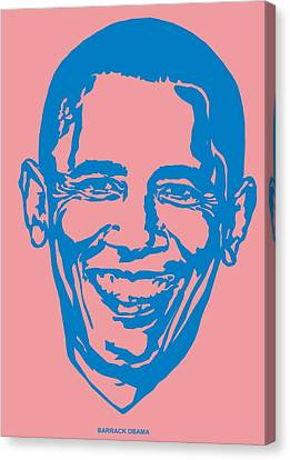 Barrack Obama Silhouette Art Image Canvas Print by Andi Asmoro