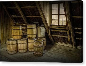 Barrel Casks Canvas Print by Randall Nyhof