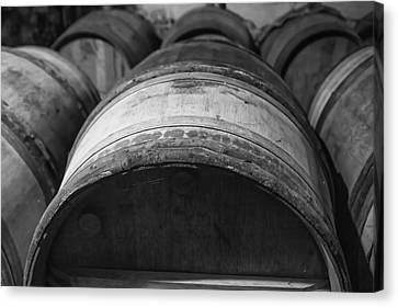 Barrels Of Wine Canvas Print by Georgia Fowler