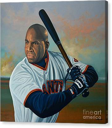 Barry Bonds Canvas Print by Paul Meijering