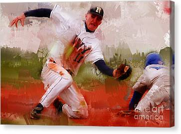 Base Ball 02 Canvas Print by Gull G