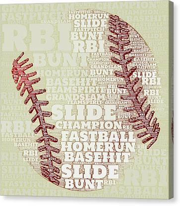 Baseball 2 Canvas Print by Brandi Fitzgerald