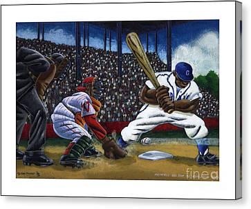 Baseball Game Canvas Print by Keith Shepherd