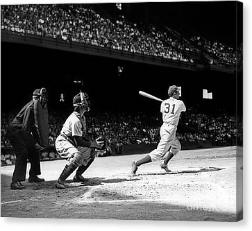 Baseball Game, Shibe Park Canvas Print by H. Armstrong Roberts/ClassicStock
