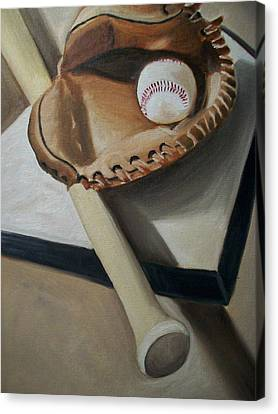 Baseball Canvas Print by Mikayla Ziegler