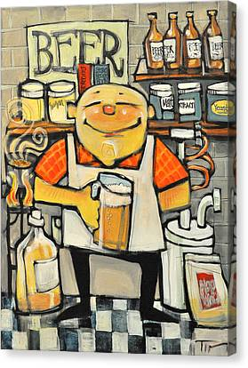 Basement Brewer Canvas Print by Tim Nyberg