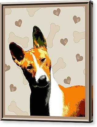 Basenji Canvas Print by One Rude Dawg Orcutt