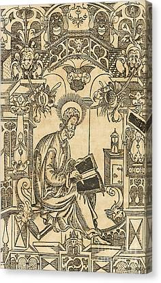 Basil Of Caesarea, Also Called Saint Basil The Great Canvas Print by Pyotr Mstislavets