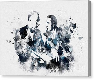 Basil Rathbone And Nigel Bruce Canvas Print by Rebecca Jenkins