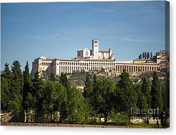 Basilica Of San Francesco D'assisi Canvas Print by Prints of Italy