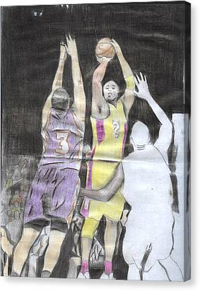 Basket Ball Canvas Print by Daniel Kabugu