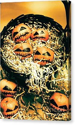 Basket Of Little Halloween Horrors Canvas Print by Jorgo Photography - Wall Art Gallery