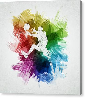 Basketball Player Art 04 Canvas Print by Aged Pixel