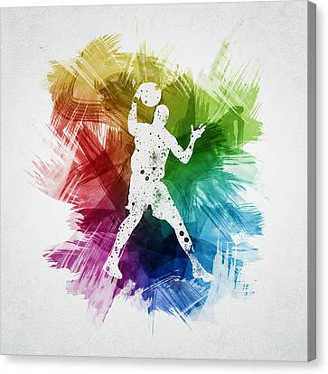 Basketball Player Art 11 Canvas Print by Aged Pixel