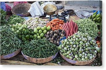 Baskets Of Produce Canvas Print by Tim Gainey