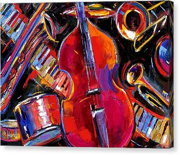 Bass And Friends Canvas Print by Debra Hurd