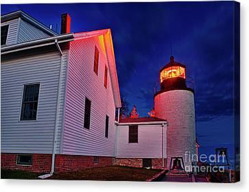 Bass Harbor Lighthouse Maine Canvas Print by John Greim