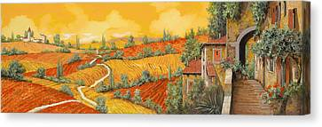 Bassa Toscana Canvas Print by Guido Borelli